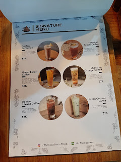 Menu office coffee