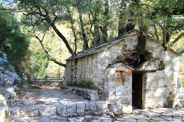 The legendary St. Theodora's chapel in Vastas, Arcadia, Greece
