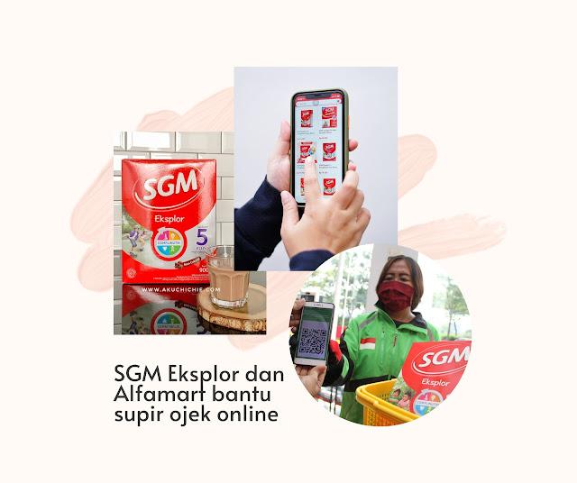 sgm eksplor dan alfamart berbagi untuk supir ojek online