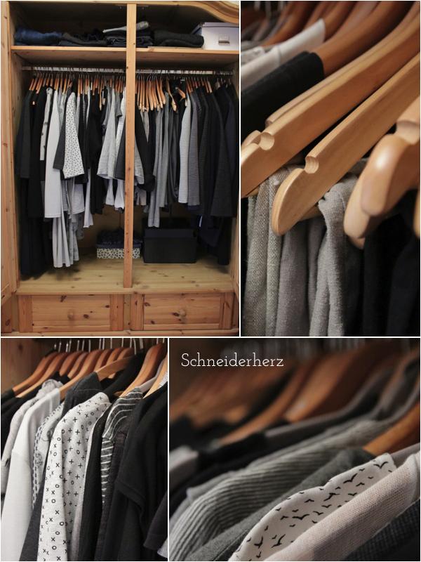 Gefüllter Kleiderschrank