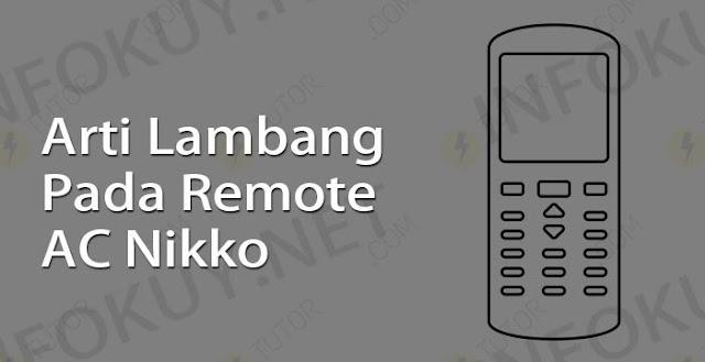 arti lambang pada remote ac nikko