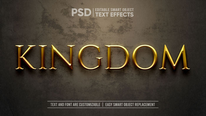 Gold Medieval Kingdom Dramatic Text Effect Mockup