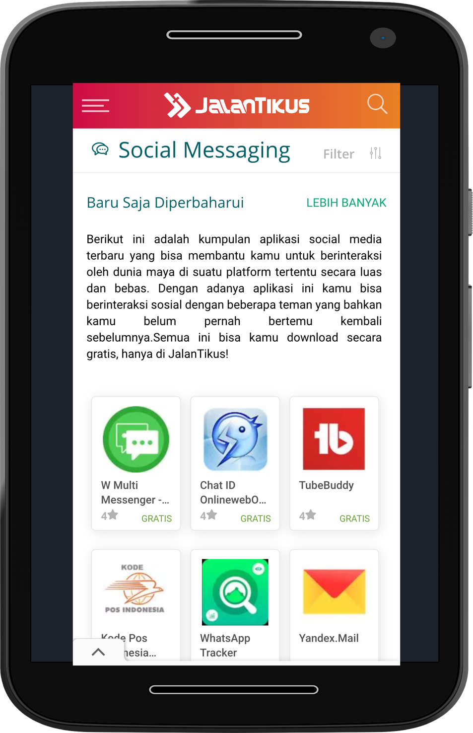Berbagai jenis aplikasi chatting di JalanTikus.com