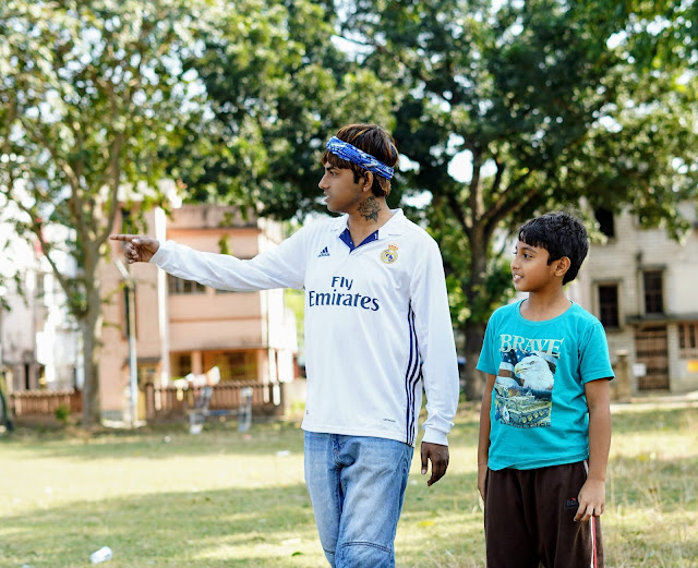 Sourajit Saha and Rick Playing Football 5