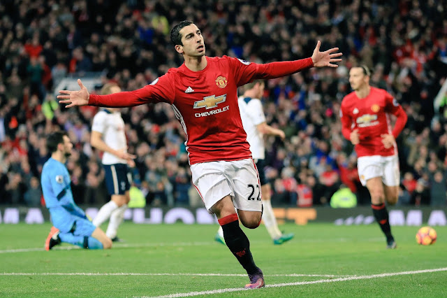 Mkhitaryan Scores First EPL Goal As United Beats Spurs
