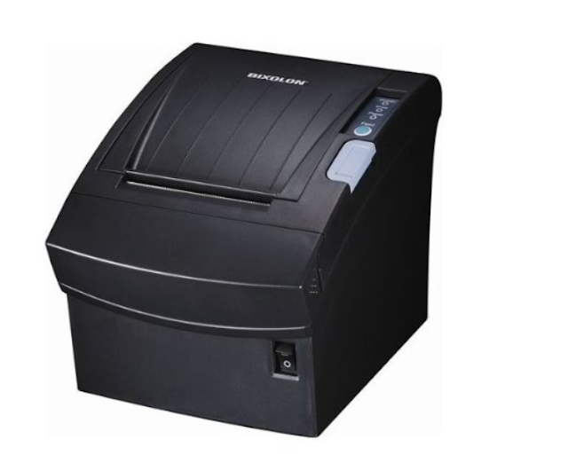 "Bixolon SRP-350II Monochrome Desktop Direct Thermal Receipt Printer with USB Interface, 7.87 in/s Print Speed, 180 dpi Print Resolution, 3"" Print Width, 24 VDC, Black"