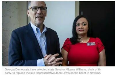 Senator Nikema Williams to replace Representative John Lewis on the ballot in November