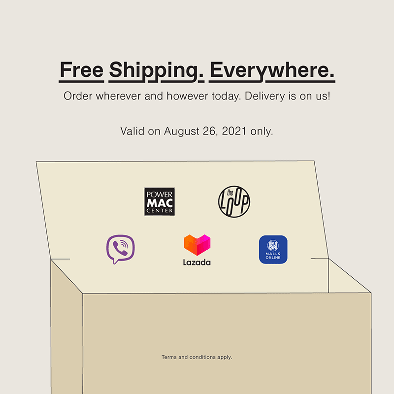 FREE shipping anywhere in the country