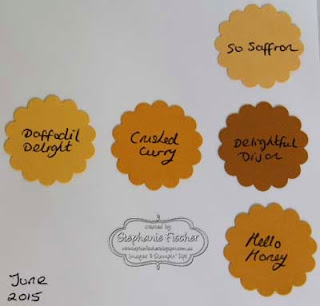 Stampin' Up! new in-colours 2015-17 yellow, comparison