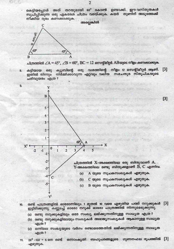 kazhcha: Maths model Question Paper