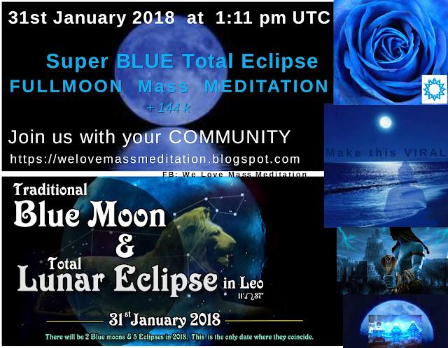 Заключительное обновление посвященное супер-голубой полной луне и медитации лунного затмения в 13:11 UTC 27335078_463379437392287_344000963_o