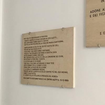 San Giovanni Paolo II inaugurazione Centro Aletti