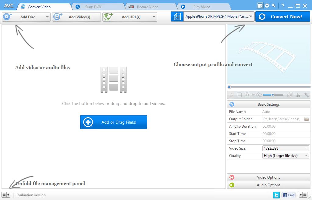 تحميل أفضل برنامج لتحويل صيغ الفيديو والصوت Any Video Converter Ultimate 6.3.7 مع التفعيل