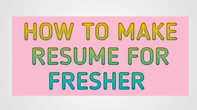 How to create Resume/C.V. step by step guide
