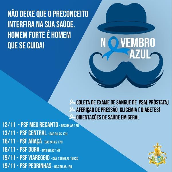Começaram 12/11 até 19/11 os  exames preventivos para homens a partir de 40 anos nas unidades de saúde da Ilha
