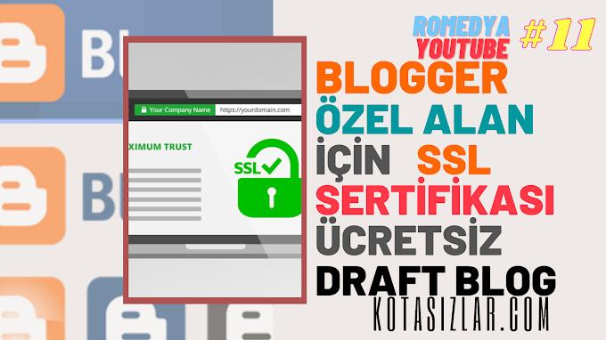 Blogger Ücretsiz Özel Alan Adı İçin SSL Sertifikası 2021