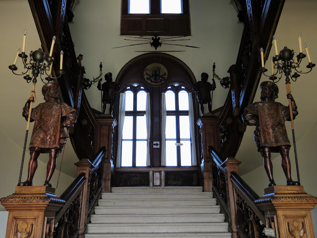 Trieste points of interest: staircase inside Castello Miramare