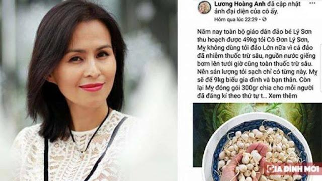 """Tung tin """"dìm hàng"""" tỏi Lý Sơn, nữ doanh nhân xinh đẹp nhận ngay quả đắng"""