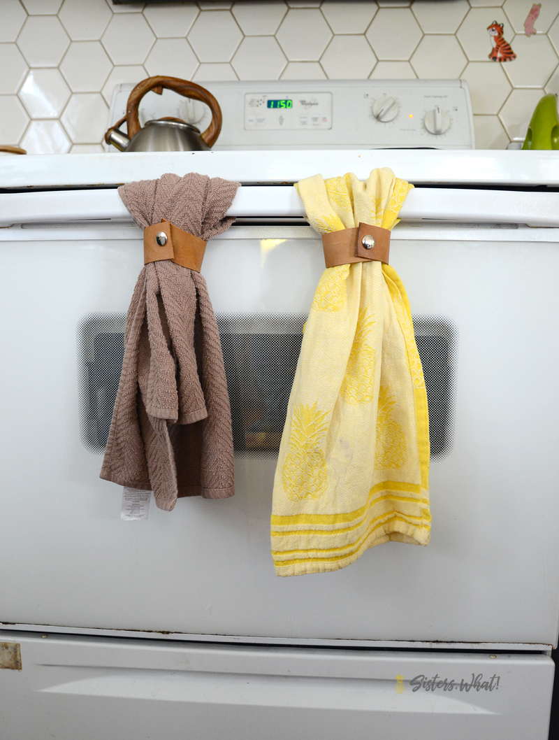 no sew kitchen towel hanger