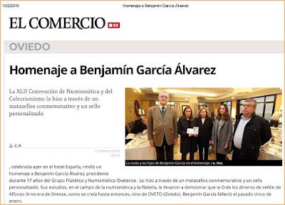 El Comercio Digital: XLII Convención con homenaje a Benjamín García