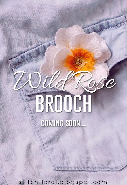 wild rose stumpwork
