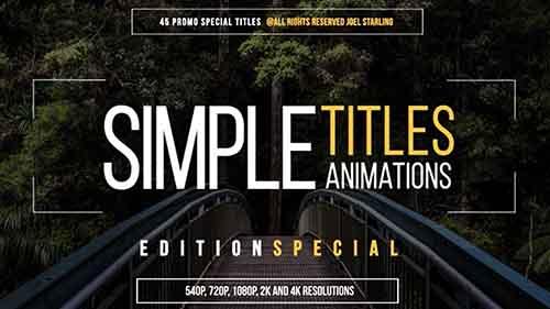 قوالب نصية رائعة لبرنامج الافتر افكت والبريمير simple titles special edition Free After Effects Template