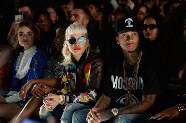 The singer Rita Ora and rapper Tyga attended Monday the fashion show Jeremy Scott in New York...