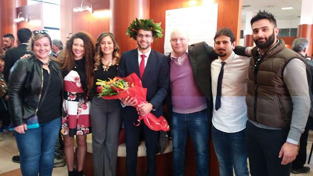 Il dottor Gianni Giglio insieme al Dottor Emilio Sperone, la Dr.ssa Chiara Romano ed altri volontari del CSS/UNICAL