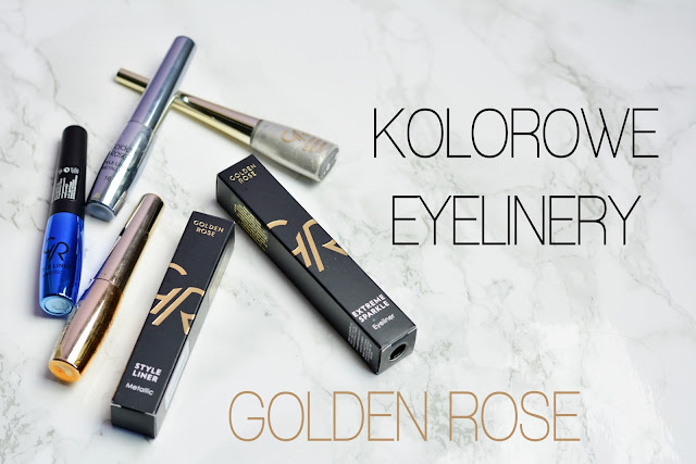 Kolorowe eyelinery od Golden Rose