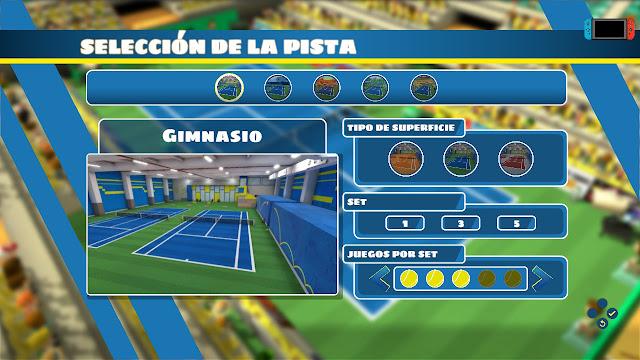 Eligiendo Pista Instant Sports Tennis