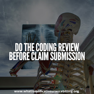 Clean claim submission - coding review