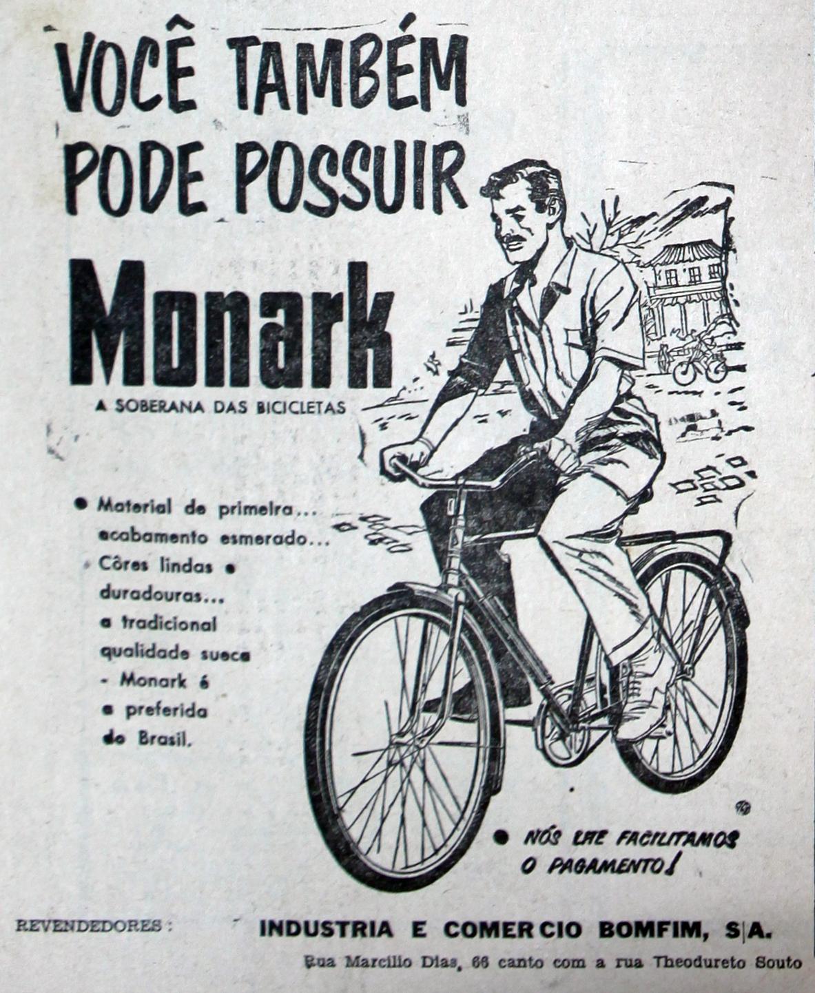 Propaganda antiga das Bicicletas Monark veiculada em 1958