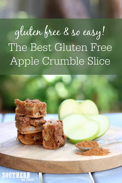 The Best Gluten Free Apple Crumble Slice Recipe - gluten free dessert recipes, easy homemade slices, healthy fall recipes