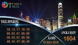 Prediksi Angka Togel Hongkong Kamis 01 November 2018