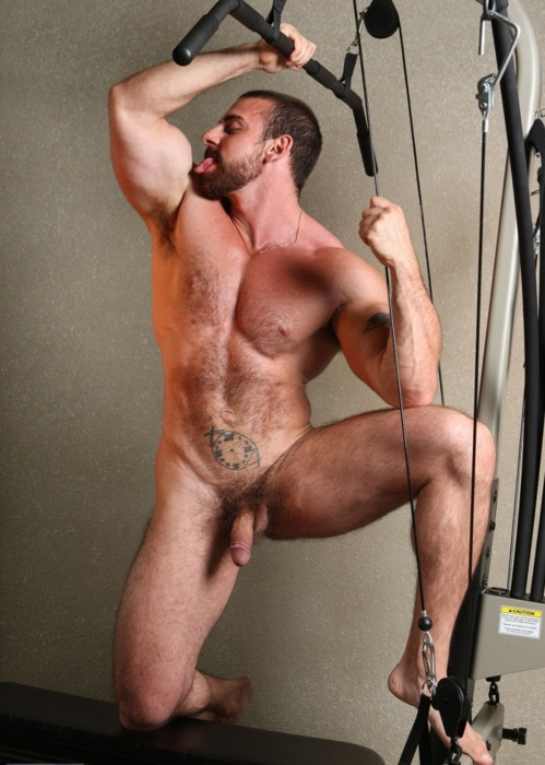 Men working out nude