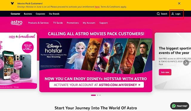 Cara Bayar Bil Astro Secara Online Di Website Astro