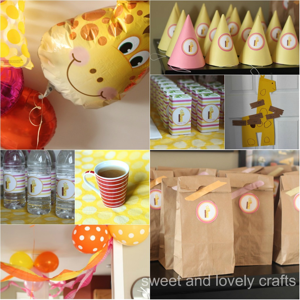 Sweet And Lovely Crafts Claire S Giraffe Party