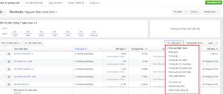 Hiệu quả và bảng phân tích trong Facebook