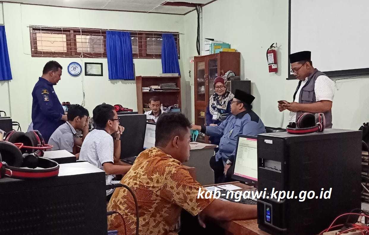 Test CAT Calon PPK di Kabupaten Ngawi Lancar