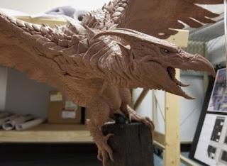 Maqueta de Rodan para el film Godzilla Rey de los monstruos