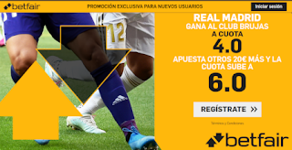 betfair supercuota champions Real Madrid gana Brujas 1-10-2019