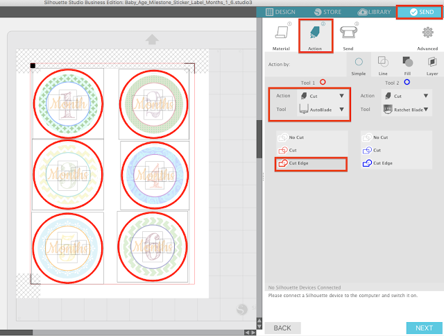 silhouette cameo tutorial for stickers silhouette studio v4