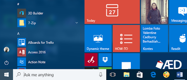 Cara Mengubah Folder di Start Menu Windows 10