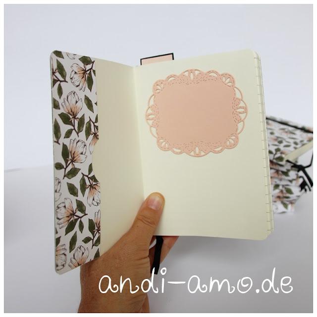 Notizbuch innen gestalten Stampin Up andi-amo
