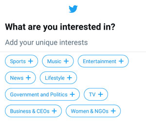 Select your interests