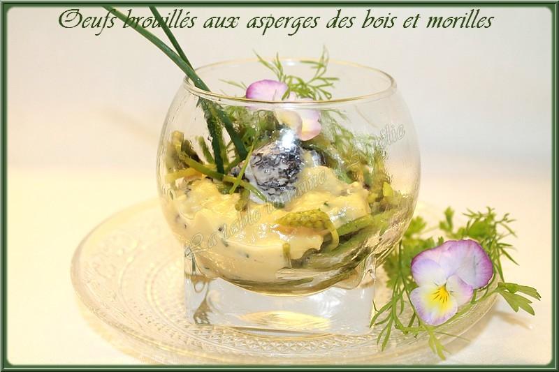 LA TABLE LORRAINE D'AMELIE u0152UFS BROUILLES AUX ASPERGES DES BOIS (Ornithogale des Pyrénées)ET  # Asperge Des Bois Saison Lorraine