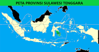 Peta Provinsi Sulawesi Tenggara