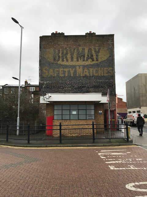 Brymay safety matches ghost sign, Lillie Road, West Brompton, London