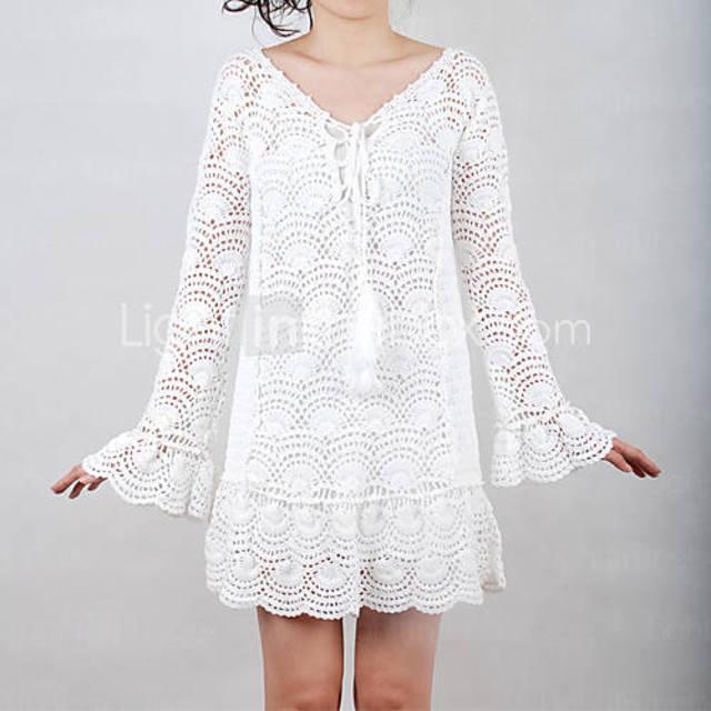 Vestido Blanco Medios Circulos Patron
