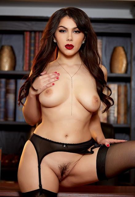 Valentina Nappi pussy naked black stockings
